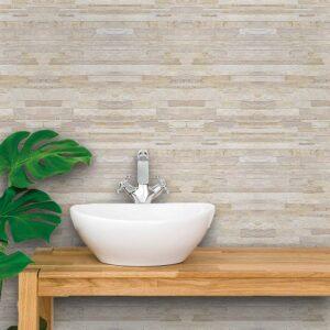 Papel de Parede para Banheiro Adesivo de Parede Pedras 0007