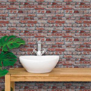Adesivo de Parede para Banheiro Papel de Parede Tijolos 0013
