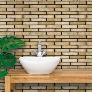 Adesivo de Parede para Banheiro Papel de Parede Tijolos 0054