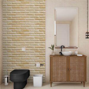 Papel de Parede para Banheiro Adesivo de Parede Tijolos 0068