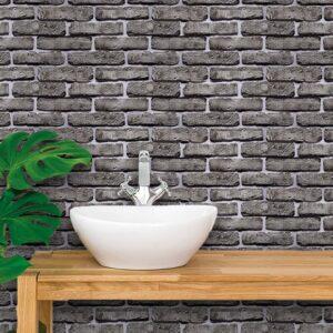 Adesivo de Parede para Banheiro Papel de Parede Tijolos 0091