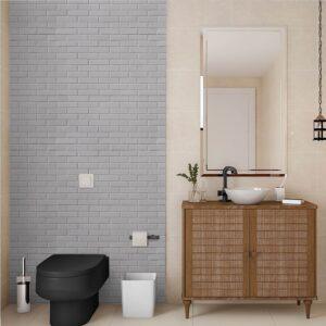 Papel de Parede para Banheiro Adesivo de Parede Tijolos 0095