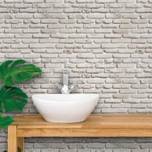 Papel de Parede para Banheiro Adesivo de Parede Tijolos 0103