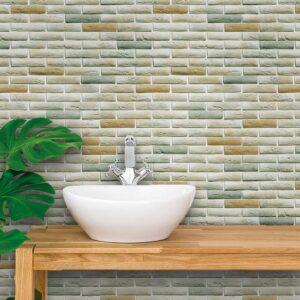 Papel de Parede para Banheiro Adesivo de Parede Tijolos 0111