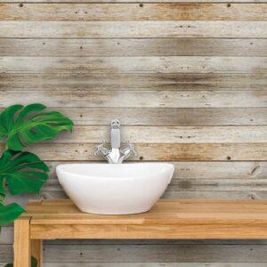 Papel de Parede para Banheiro Adesivo de Parede Madeira 0007
