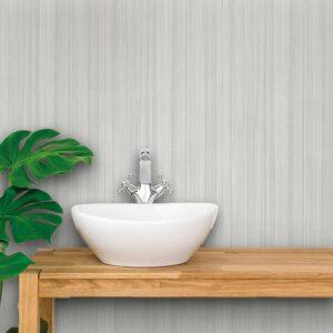Adesivo de Parede para Banheiro Papel de Parede Madeira 0025