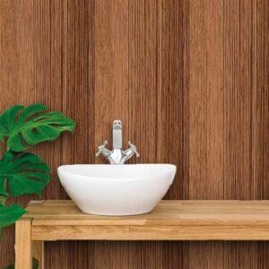 Papel de Parede para Banheiro Adesivo de Parede Madeira 0033