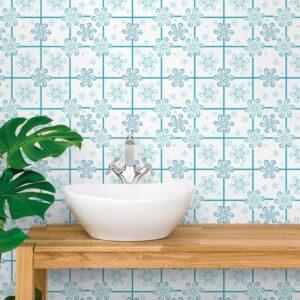 Adesivo de Parede para Cozinha Papel de Parede Azulejo 0004