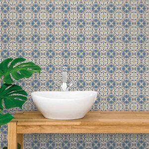 Adesivo de Parede para Banheiro Papel de Parede Azulejo 0022