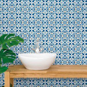 Adesivo de Parede para Cozinha Papel de Parede Azulejo 0026