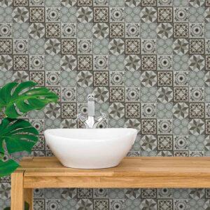 Adesivo de Parede para Banheiro Papel de Parede Azulejo 0046