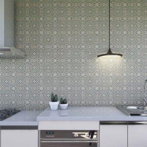 Adesivo de Parede para Cozinha Papel de Parede Azulejo 0006