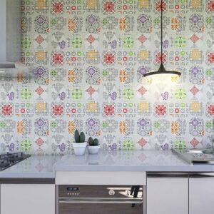 Adesivo de Parede para Cozinha Papel de Parede Azulejo 0029