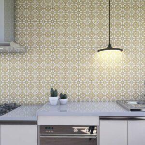 Adesivo de Parede para Cozinha Papel de Parede Azulejo 0037