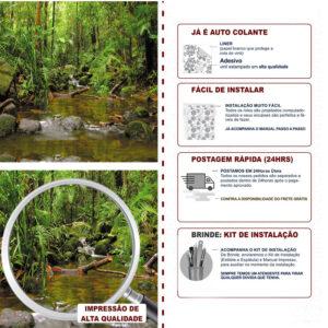 Adesivo de Parede Papel de Parede Floresta 0009