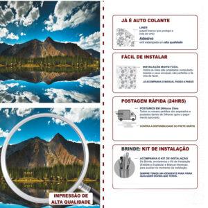 Adesivo de Parede Papel de Parede Montanhas 0019