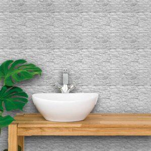 Adesivo de Parede para Banheiro Papel de Parede Pedras 0056