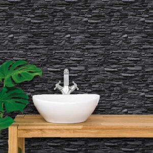 Adesivo de Parede para Banheiro Papel de Parede Pedras 0060