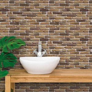 Adesivo de Parede para Banheiro Papel de Parede Pedras 0065