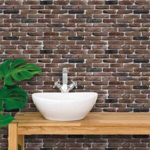 Adesivo de Parede para Banheiro Papel de Parede Pedras 0106