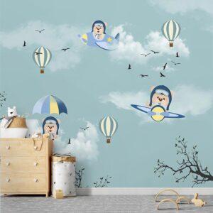 Papel de Parede para Menino Adesivo para Quarto Balões 0001