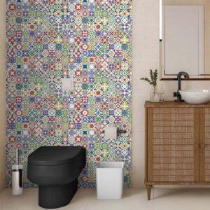 Adesivo de Parede para Banheiro Papel de Parede Azulejo 0020