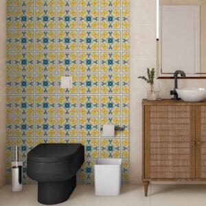 Adesivo de Parede para Banheiro Papel de Parede Azulejo 0044