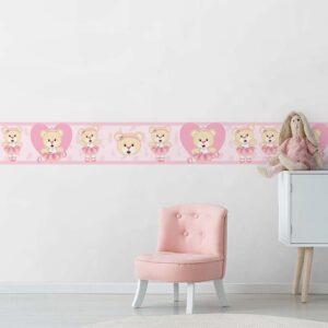 Faixa Decorativa para Quarto de Bebê Bailarina 0005